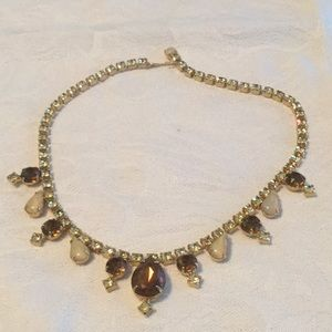 🌻Brilliant Vintage Rhinestone Choker Necklace 🌻